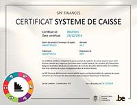Smarttouch Certificat Caisse FR
